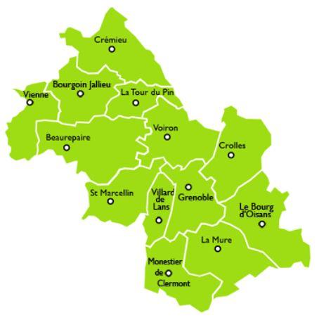 transisère - le Département Buslinien in der Region Grenoble